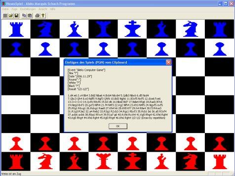 Screenshot vom Programm: Marquis Schach Programm